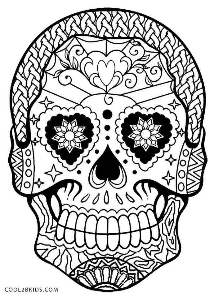 Get This Day of the Dead Sugar Skulls Coloring Pages 62719
