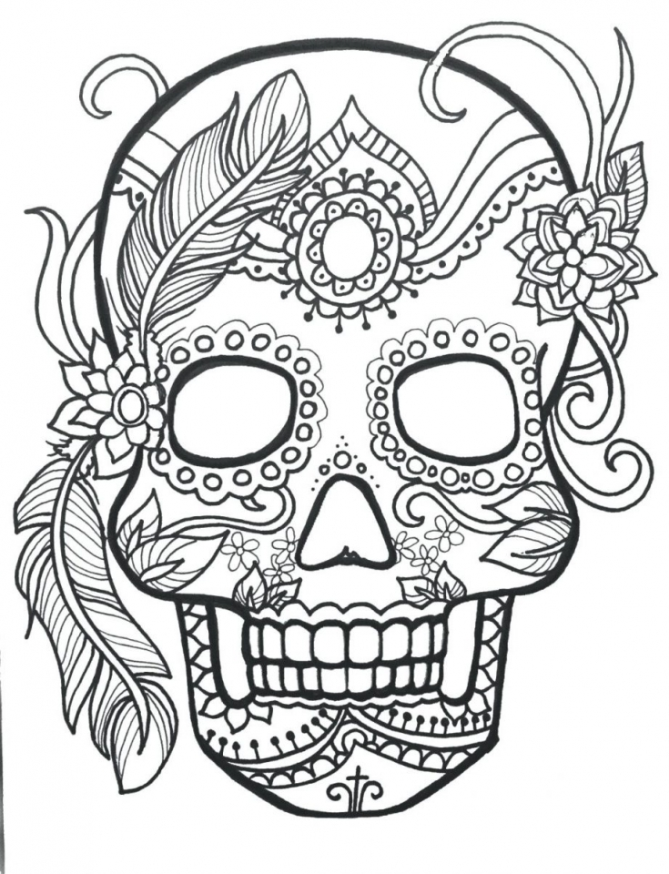 Day of the Dead Sugar Skulls Coloring Pages   7fbr1