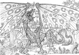 Dragon Coloring Pages for Adults Free Printable lp5c7