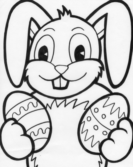 Easter Bunny Coloring Pages for Kids 07739
