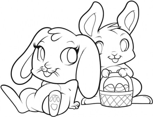 Easter Bunny Coloring Pages Free 89961