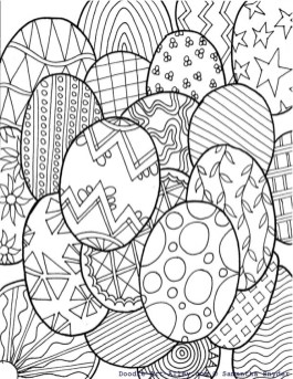 Easter Egg Design Coloring Pages 99691