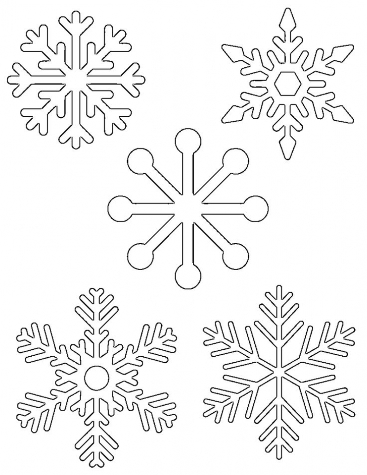 Easy Snowflake Coloring Pages for Kids   33758