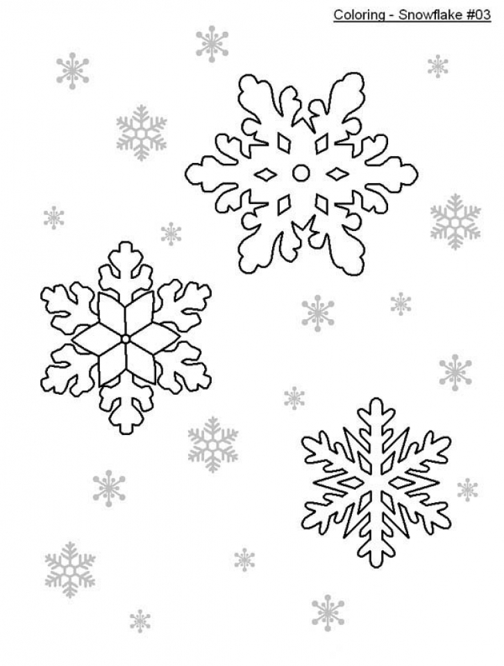 Easy Snowflake Coloring Pages for Kids   56293