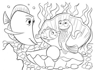 Finding Nemo Coloring Pages Disney Printable te64m