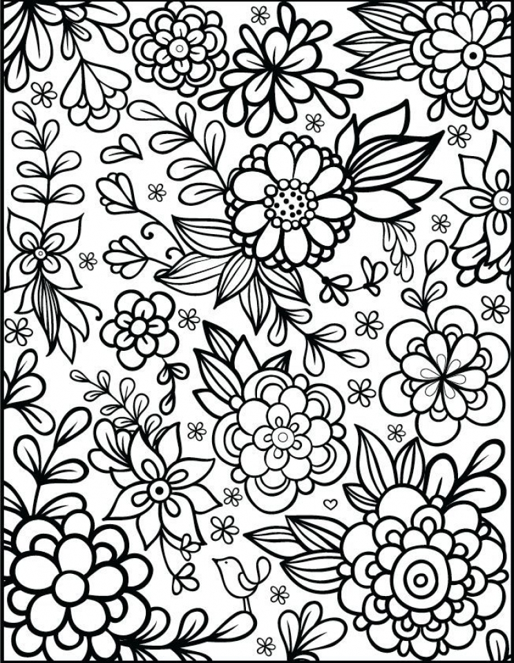 Flowers Coloring Pages for Adults Printable   ar371