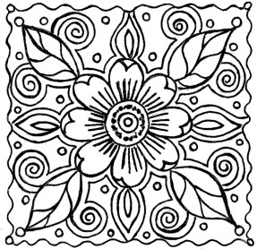 Flowers Coloring Pages for Kids 2165