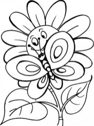Flowers Coloring Pages Kids Printable 8561