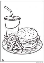 Food Coloring Pages junk food 894nc