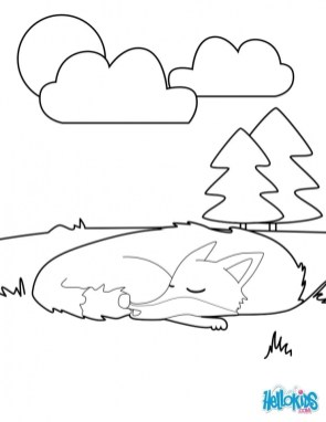 Fox Coloring Pages for Toddlers 2085l
