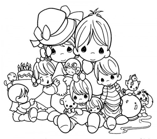 Precious Moments Love Coloring Pages Free Of Noah And The Ark ... | 447x502