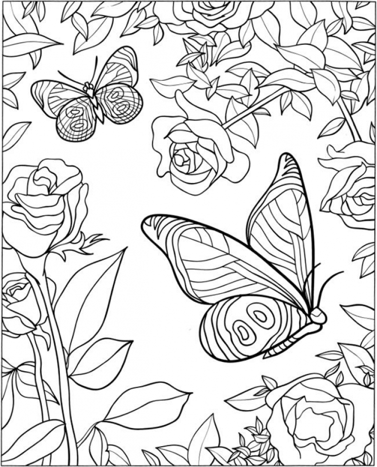 Get This Free Printable Butterfly Coloring Pages For Adults A512b