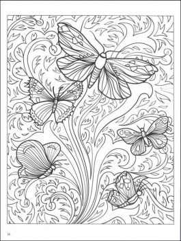 Free Printable Butterfly Coloring Pages for Adults a64b5