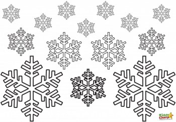 Free Snowflake Coloring Pages to Print Out 31740