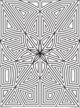 Geometric Design Coloring Pages l0789