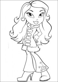 Girls Coloring Pages of Bratz Dolls tar75
