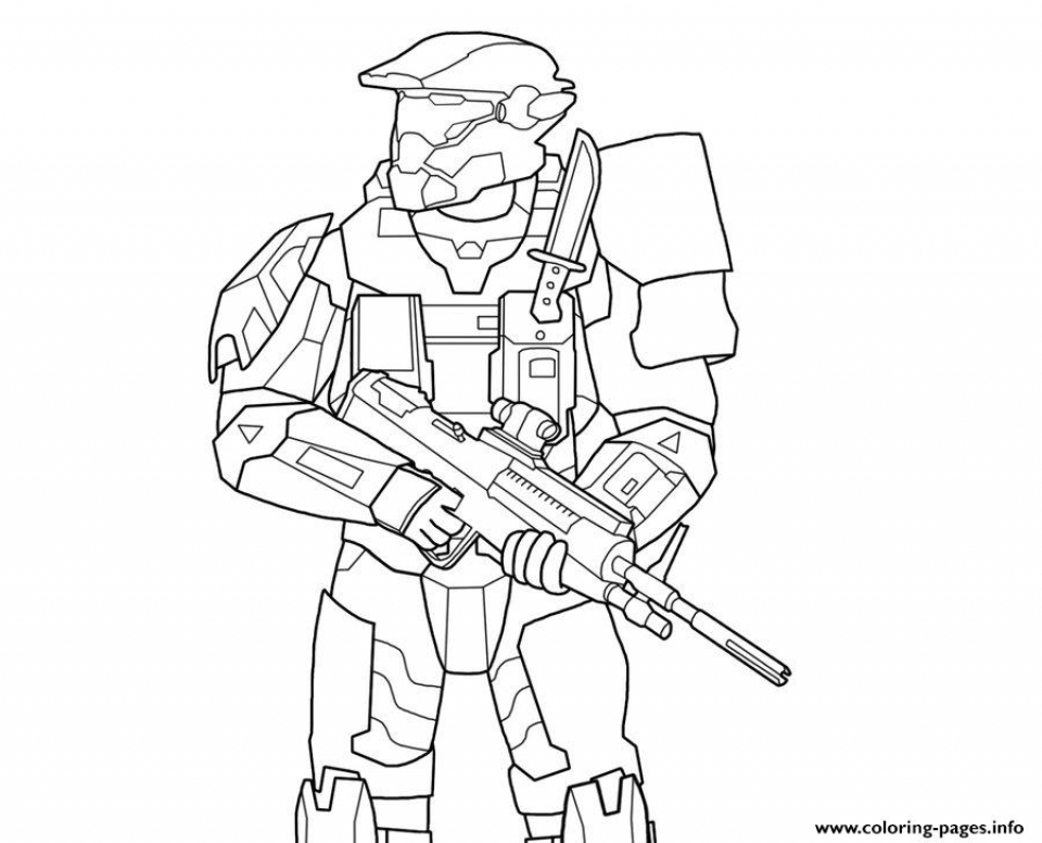 Halo Coloring Pages Free   726hq