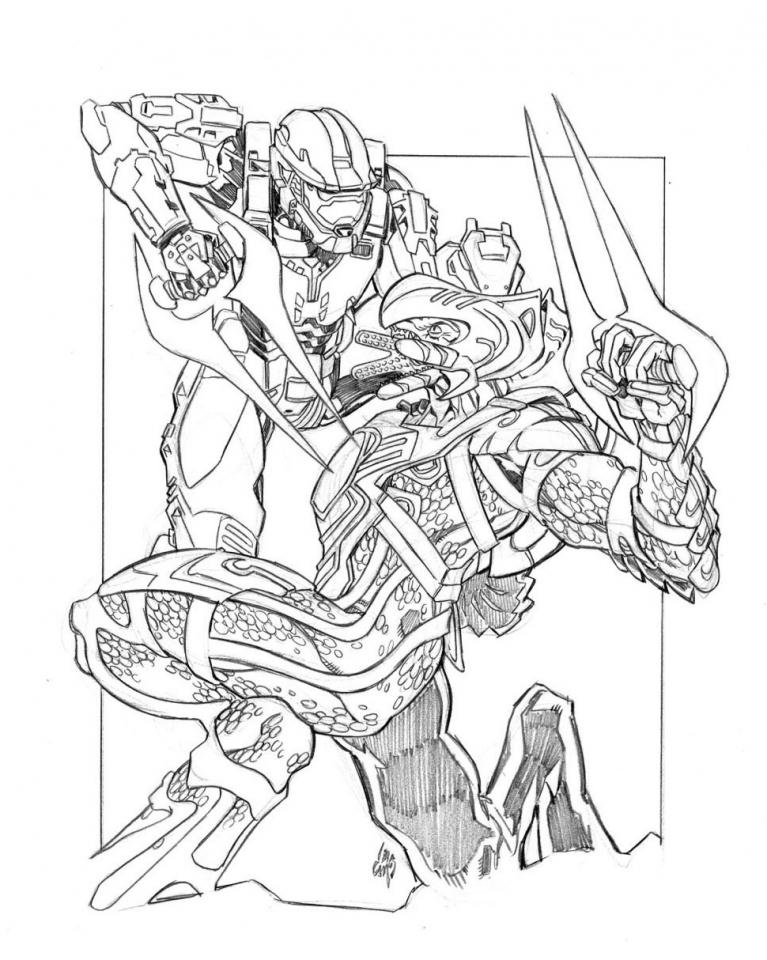 Halo Coloring Pages Superhero Printables   5af5j