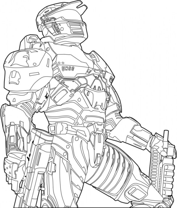 coloring pages halo # 33