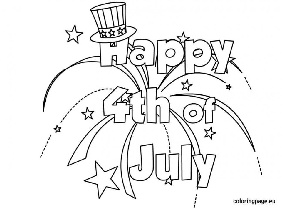 Get This Happy 4th of July Coloring Pages 216c3