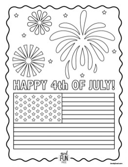 Happy 4th of July Coloring Pages yxc3a
