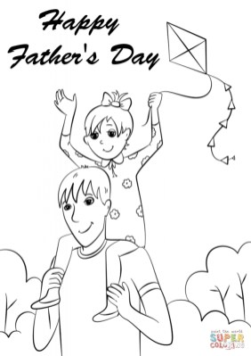 Happy Father's Day Coloring Pages to Print wa784