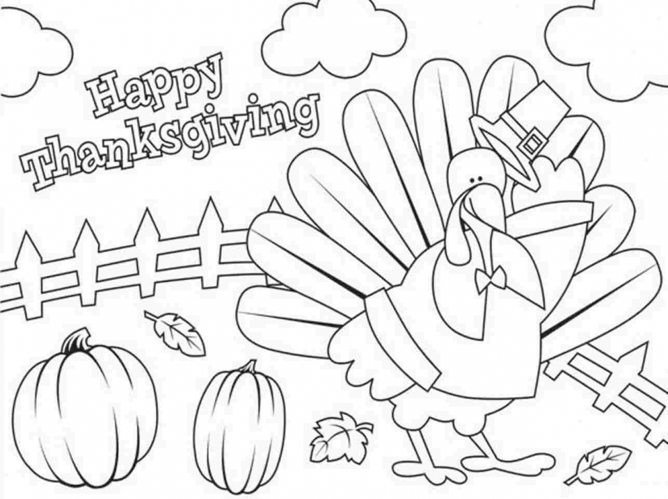 20+ Free Printable Thanksgiving Coloring Pages - EverFreeColoring.com