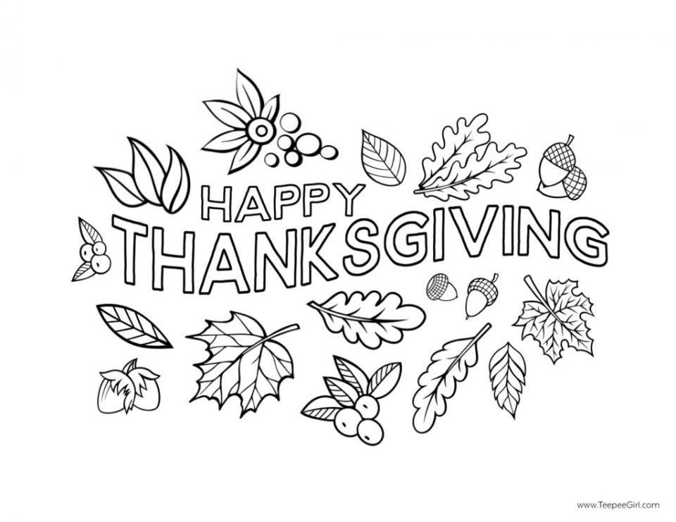 Get This Happy Thanksgiving Coloring Pages Free Printable 76512 !