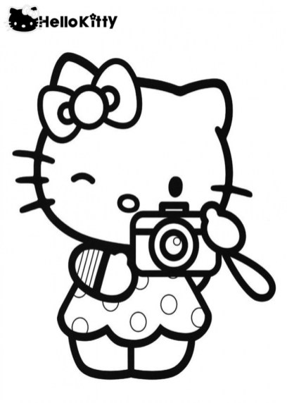 Hello Kitty Coloring Pages for Girl 892ml