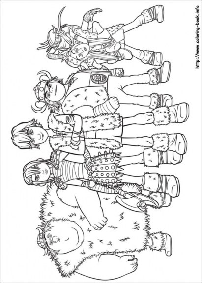 How to Train Your Dragon Coloring Pages Printable 8ade1
