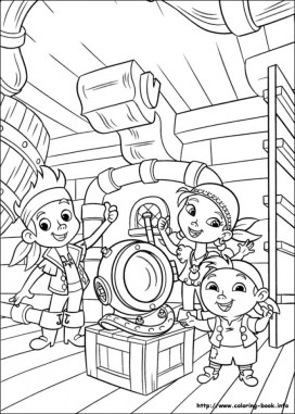 Jake and The Neverland Pirates Coloring Pages Printable t418v