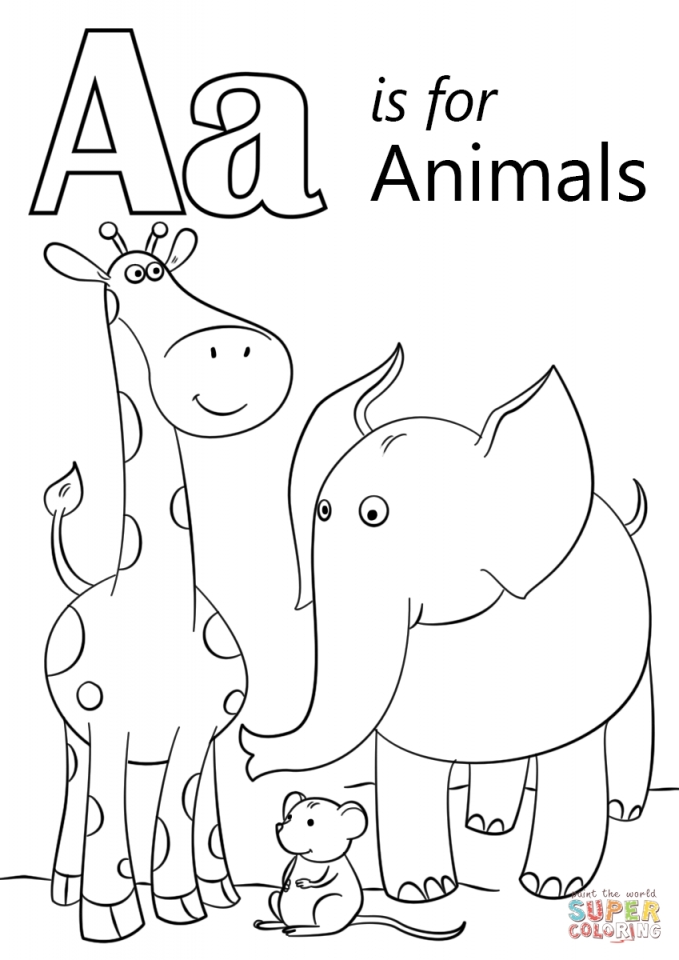 Get This Letter A Coloring Pages Animals 734n0
