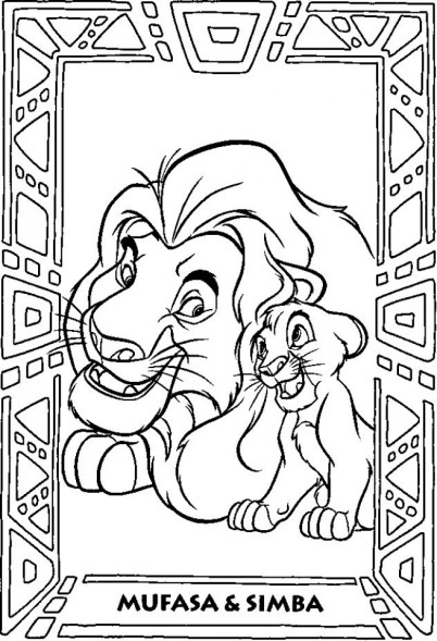 Lion King Coloring Pages Online idgra