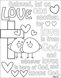 Love Coloring Pages to Print for Kids 16253