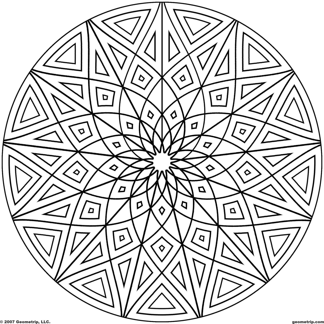 Mandala Design Coloring Pages   67219
