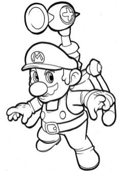 Mario Bros coloring pages free heus6