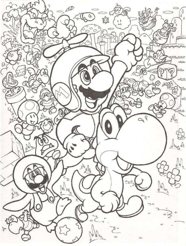 Mario Bros coloring pages free   qab5m