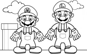 Mario Brothers coloring Pages 94516