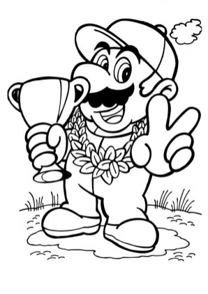 Mario Coloring Pages Online bcg4n