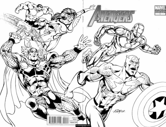 marvel avengers coloring pages - ywma1