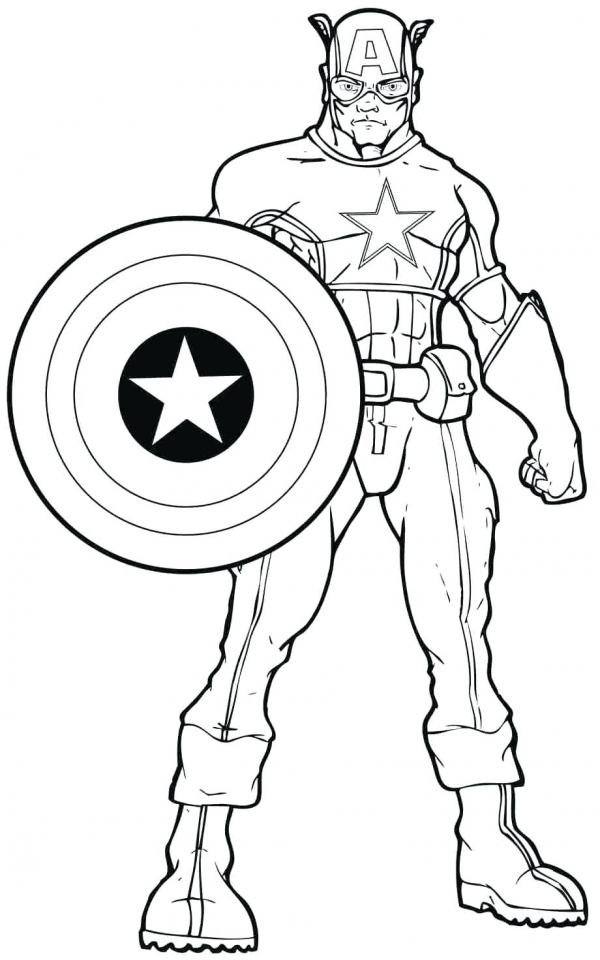 Get This Marvel Coloring Pages Captain America ywn3l