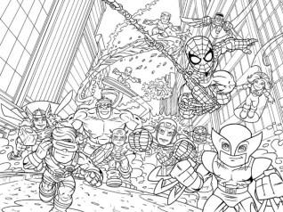 Marvel Coloring Pages Superhero Squad 7ahem