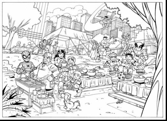 Marvel Coloring Pages Superhero Squad uwm5b