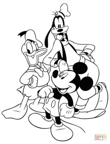 Mickey Mouse Clubhouse Coloring Pages Online 16dn5