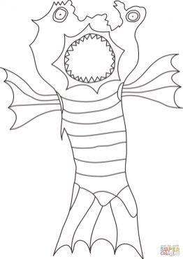 Monster Coloring Pages Free for Kids 48163
