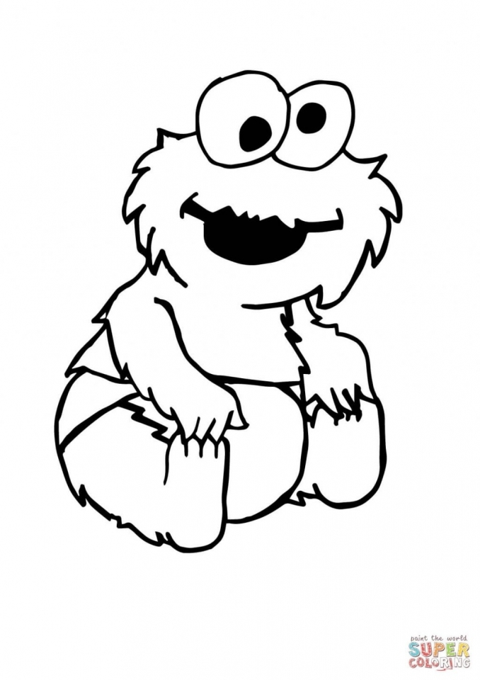 Monster Coloring Pages Kids Printable   at21m