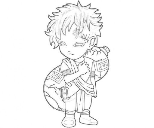 Naruto Chibi Coloring Pages 90478