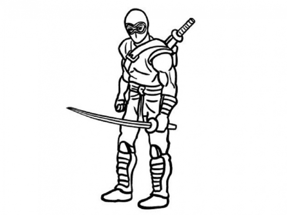 Ninja Coloring Pages for Kids   bdg51