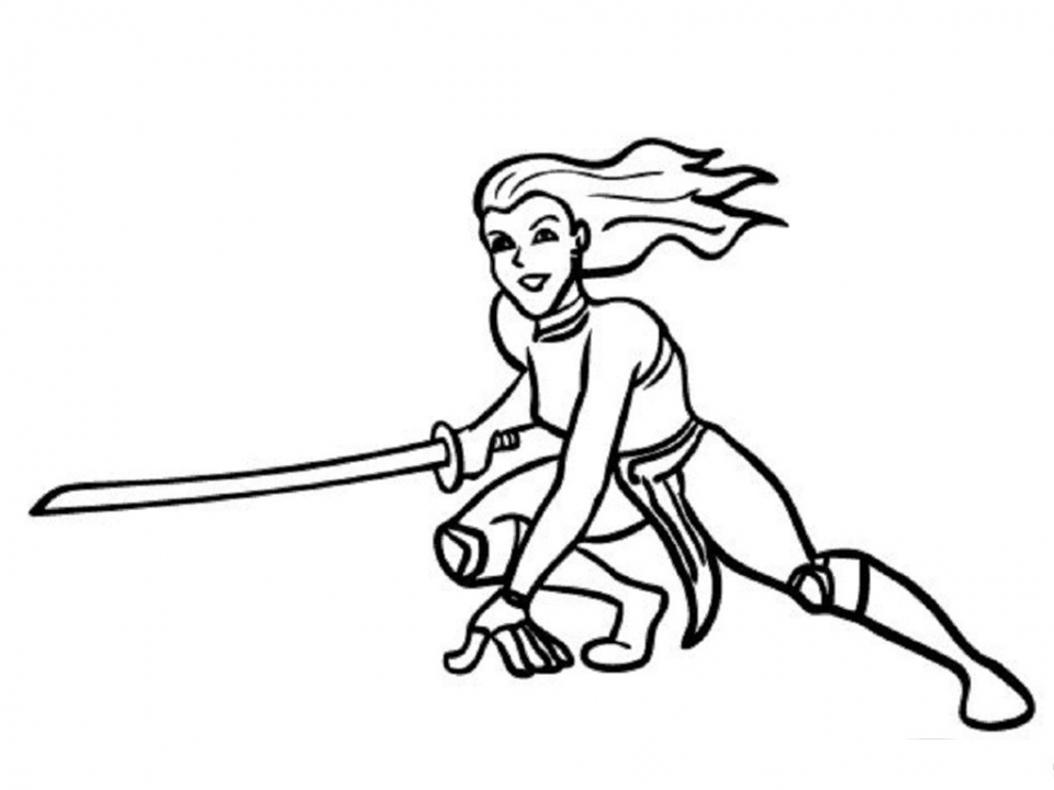 Ninja Coloring Pages Free Printable   gsjt8