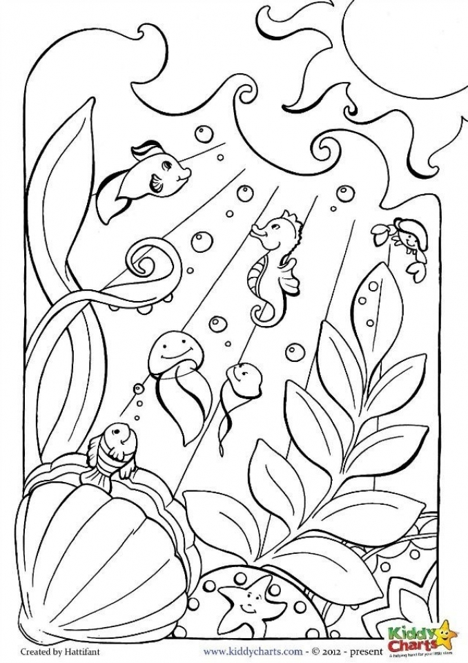20+ Free Printable Ocean Coloring Pages - EverFreeColoring.com | free printable colouring pages of sea animals